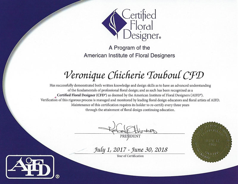 The American Institute of Floral Designers, Certified Floral Designer